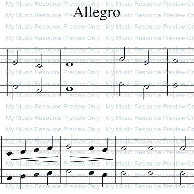'Allegro' from Rosamund Conrad's Delightfully Easy Piano Duets: Book 1