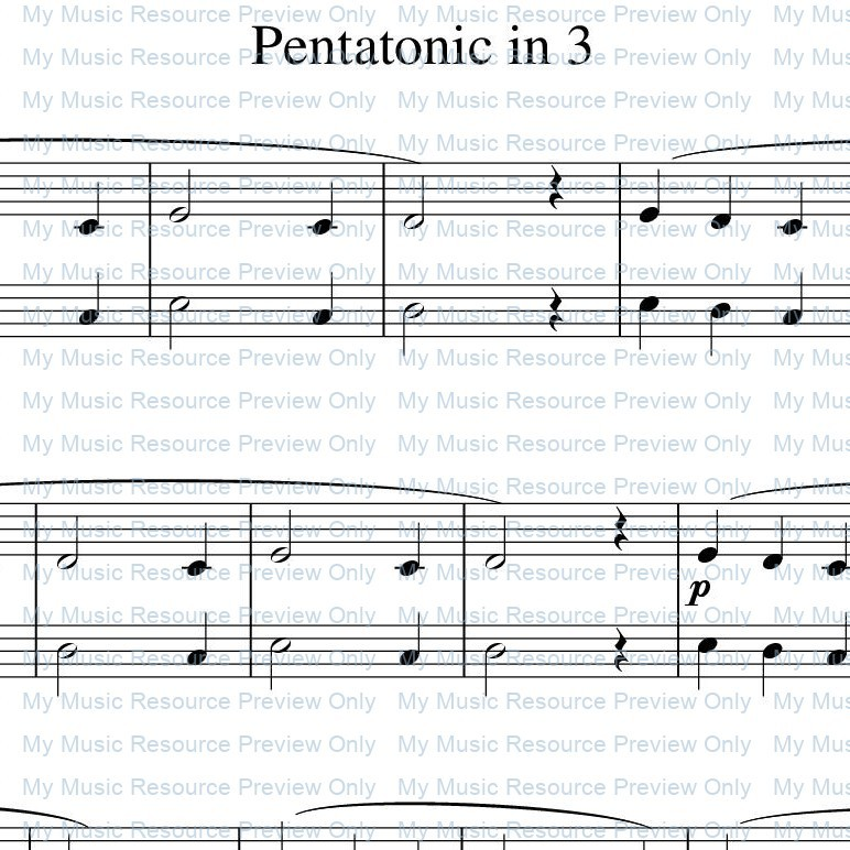 'Pentatonic in 3' from Rosamund Conrad's Delightfully Easy Piano Duets: Book 1