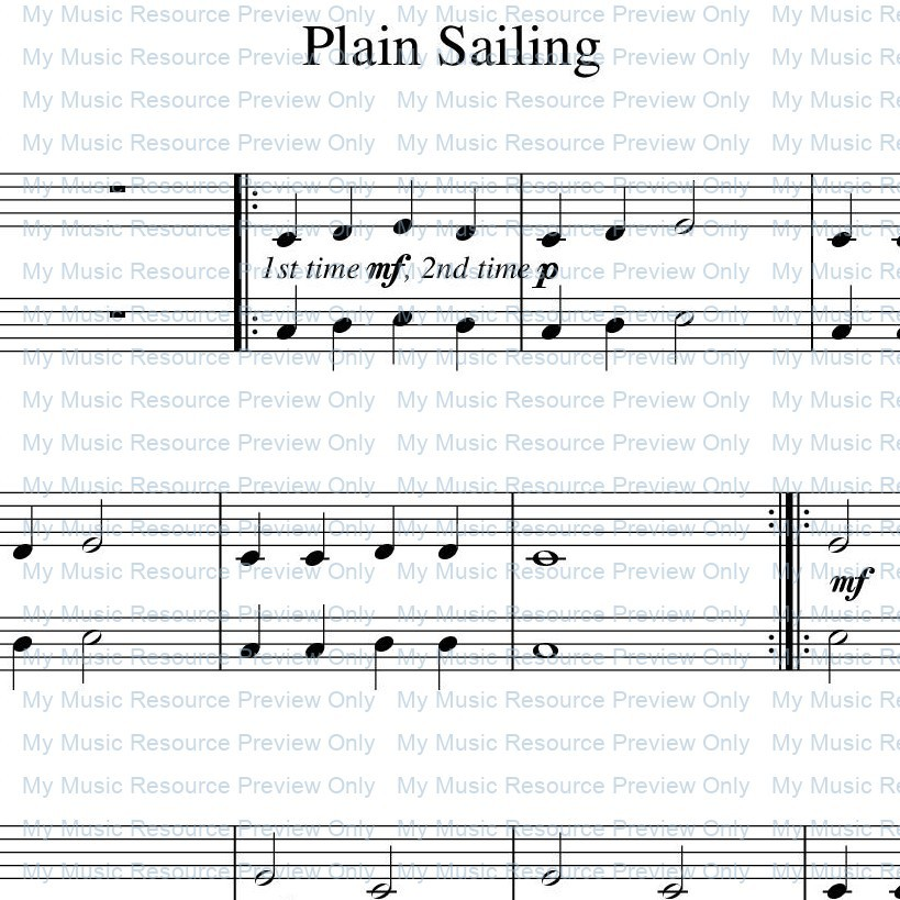 'Plain Sailing' from Rosamund Conrad's Delightfully Easy Piano Duets: Book 2