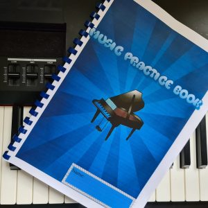 Smart Weekly Piano Lesson Practice Book