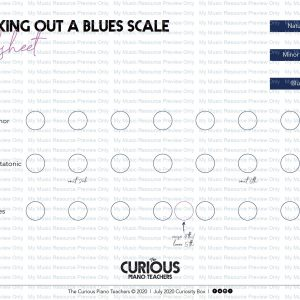How to work out a Blues Scale