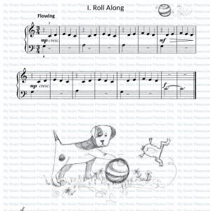 Three Tunes in Three from Fun, Games and Party Pieces for Beginner Piano