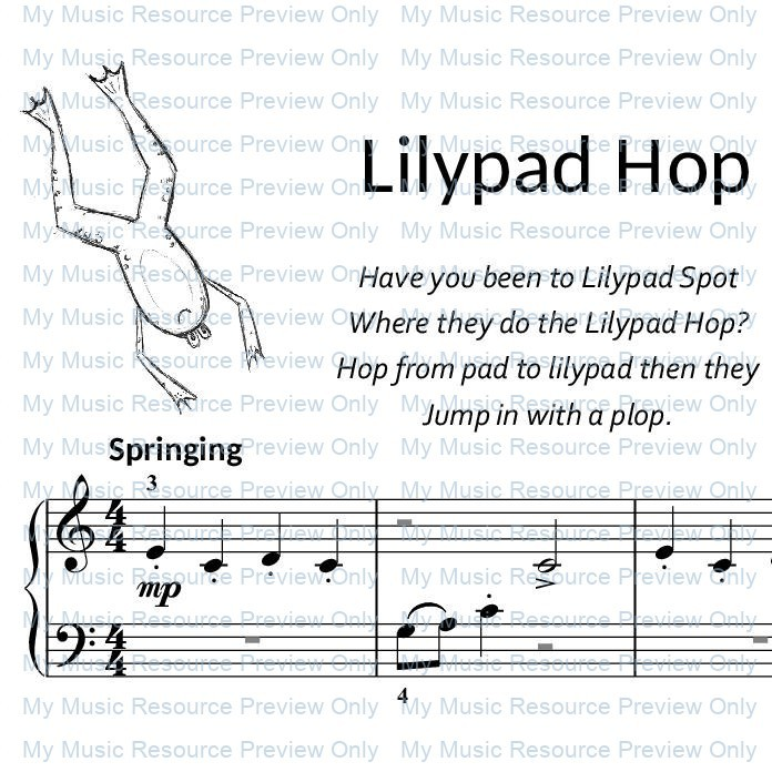 Lilypad Hop from by Fun, Games and Party Pieces for Beginner Piano