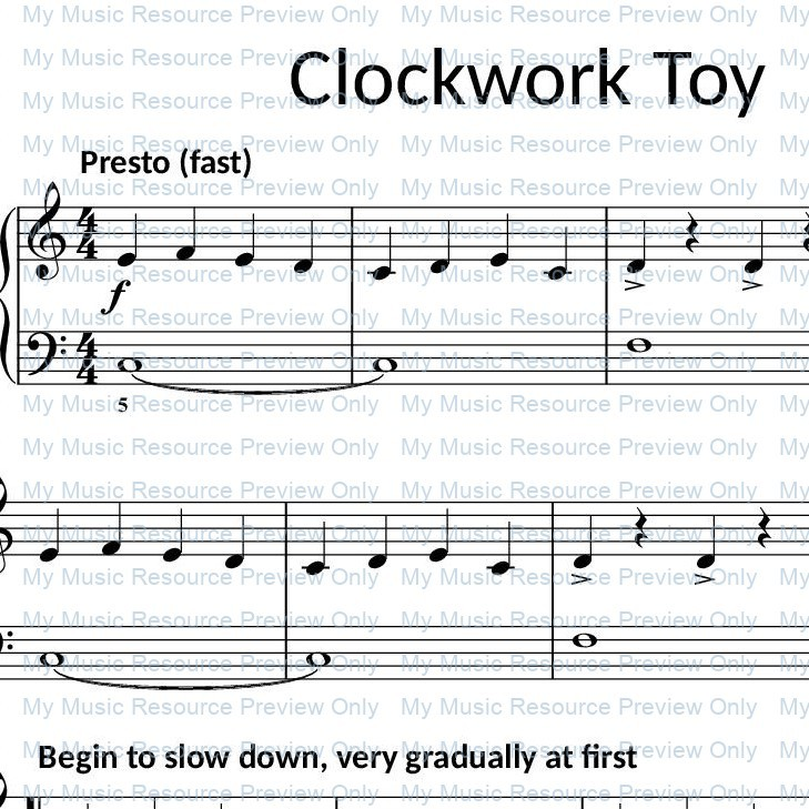 Clockwork Toy from Fun, Games and Party Pieces for Beginner Piano