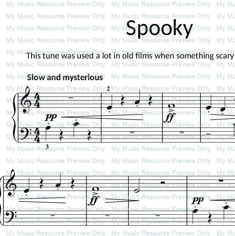 Spooky from Fun, Games and Party Pieces for Beginner Piano
