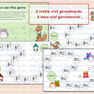 Christmas Note Reading Game – Treble and Bass Clef
