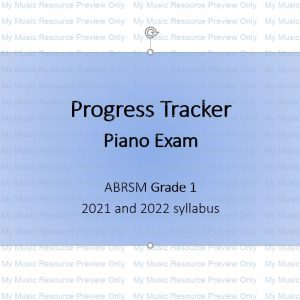 Exam Progress Tracker (Grade 1 Piano, ABRSM 2021 and 2022 syllabus)