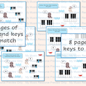 Piano Keyboard Geography Resource – Seals