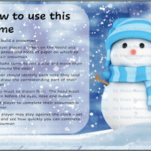 Build a Snowman Note Recognition Game – Bass and Treble Clef