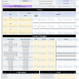 Exam Progress Tracker (Grade 2 Piano, ABRSM 2021 and 2022 syllabus)