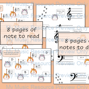 Note Reading Hamsters – Bass and Treble Clef