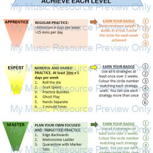 Practice Progression System: Apprentice, Expert, Master