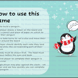 Build a Penguin Note Recognition Game – Bass and Treble Clef