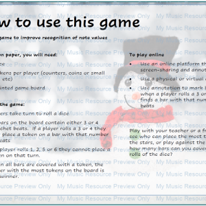 Note Value Recognition Game –  Snowman