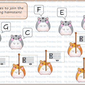 Alto Clef Note Recognition Game – Match the Hamsters