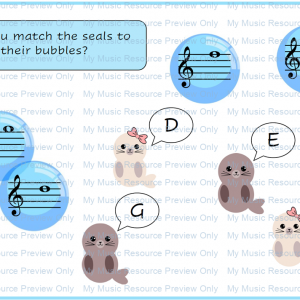 Seals and Bubbles Note Recognition Resource