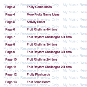 Fruit Rhythm E-Book for Beginners