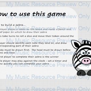 Build a Zebra – Note Recognition Game