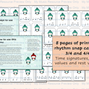 Penguin Snap Game – Time Signatures and Note Values
