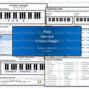 Pattern book for Grade 1 Piano Scales and Arpeggios (based on the ABRSM 2021 syllabus)