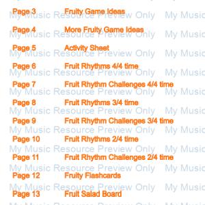 Fruit Rhythms E-Book (Elementary)
