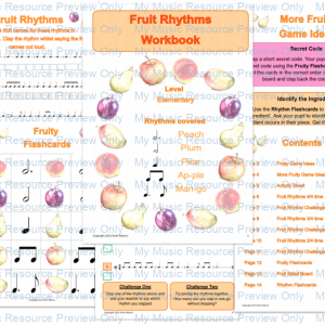 Fruit Rhythms E-Book (Elementary)