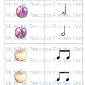 Fruit rhythm flashcards