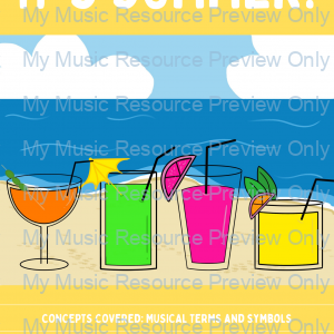 It's Summer | Music Theory Game | Printable + Digital Version
