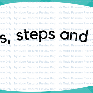 Steps and skips flashcards