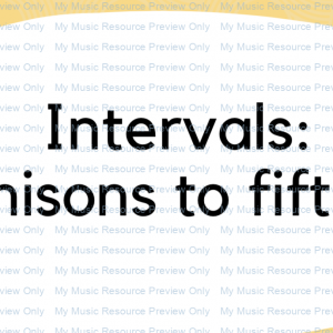 Interval flash cards: Unisons to 5ths.