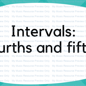 Interval Flashcards: 4ths and 5ths (steps and skips extension pack)