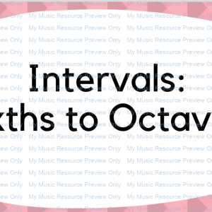 Interval flashcards: Intervals 6th to octaves