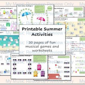 Printable Summer Activities