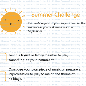 Summer Challenge Worksheet