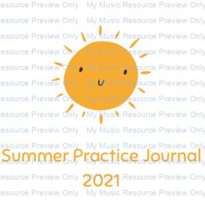 Summer Practice Journal