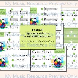 Football Spot-the-Phrase (Aural Skills Resource)