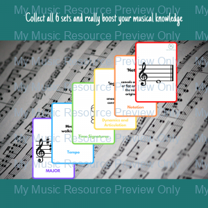 Musical Alphabet double-sided flashcards – RED (part of the rainbow set)