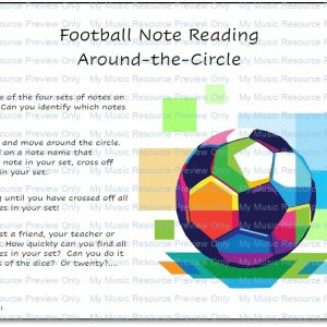Football Note Reading Around-the-Circle (Treble and Bass Clef)