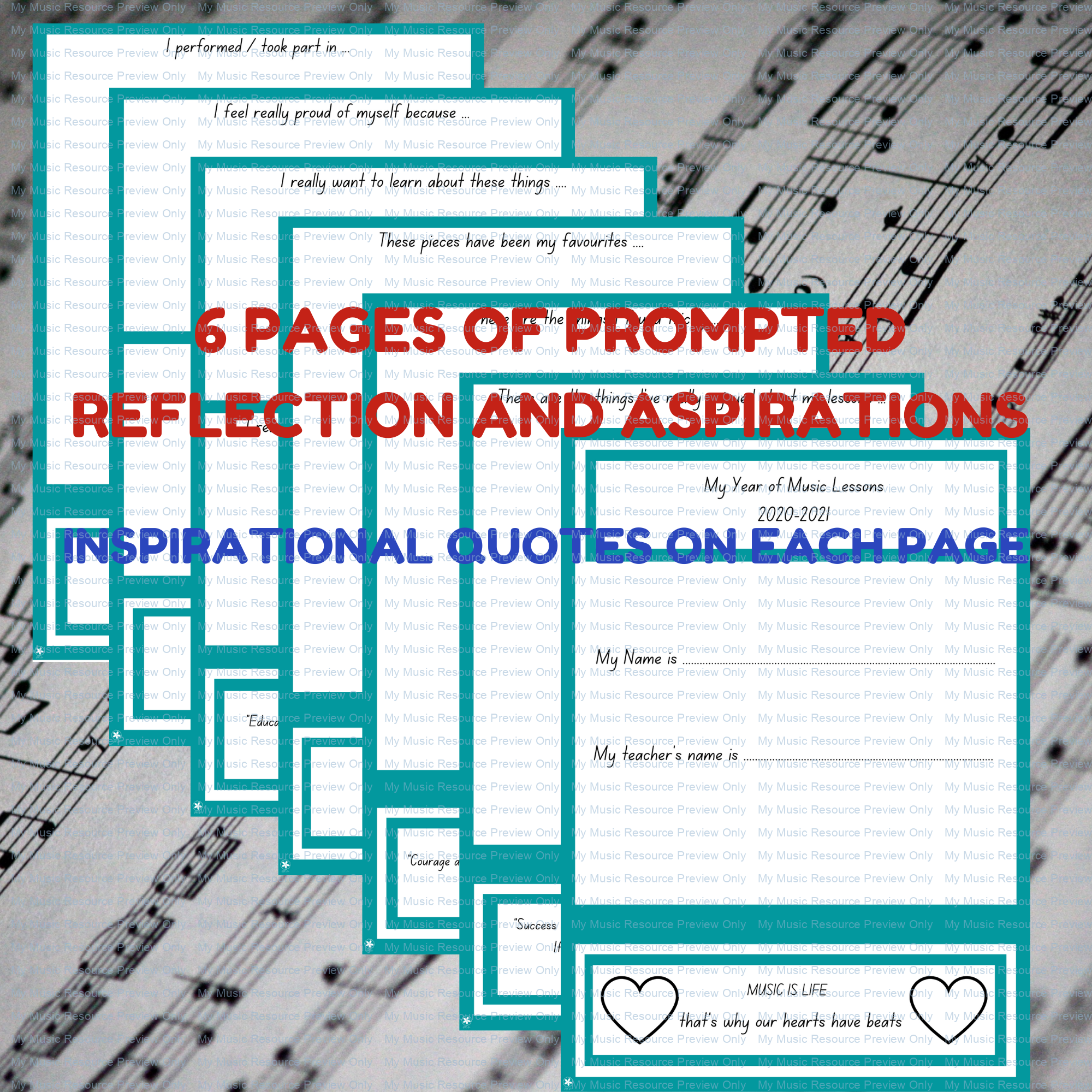 End of Term Reflections Workbook