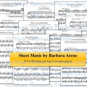 Sheet music bundle by Barbara Arens