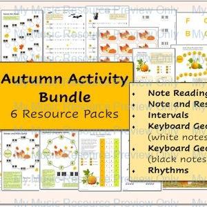 Bumper Bundle of Autumn Resource Packs – 30% Saving