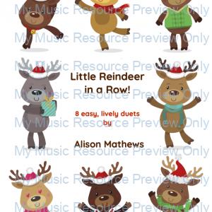 Little Reindeer in a Row!