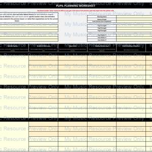 FREE Pupil Planning Spreadsheet