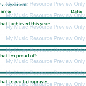 Student planner and evaluation sheets